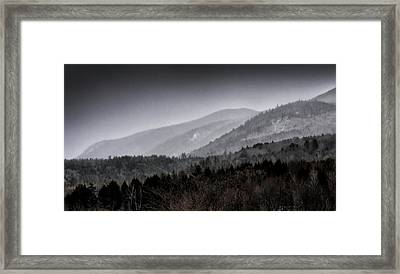 Framed Print featuring the photograph Green Mountains - Vermont by Brendan Reals