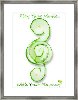 Green Music Framed Print by Prar Kulasekara