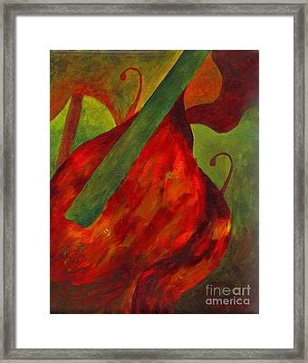 Green Neck Fiddle Framed Print