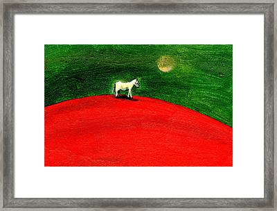 Green Night Framed Print by Gigi Sudbury