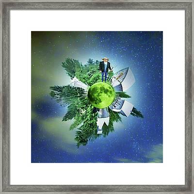Green Framed Print by Nikolyn McDonald