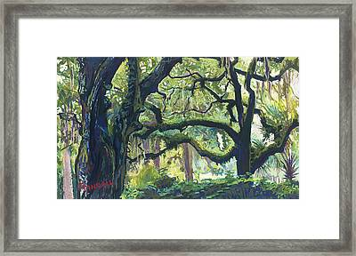 Green Oaks Framed Print