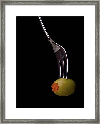 Green Olive Framed Print