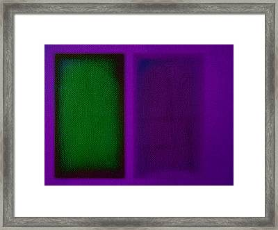 Green On Magenta Framed Print