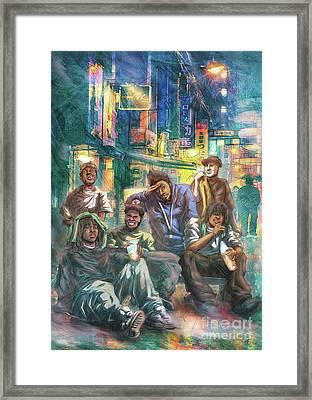 Green Ova Framed Print by Tuan HollaBack