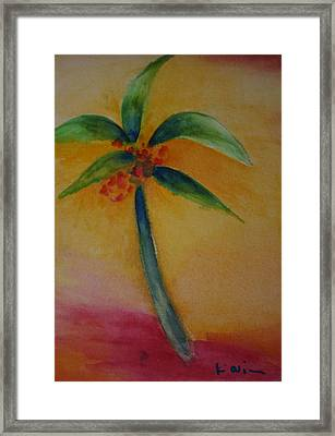 Green Palm Framed Print by Karin Eisermann