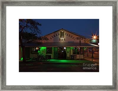 Green Parrot Bar Key West Florida Twilight Framed Print by John Stephens