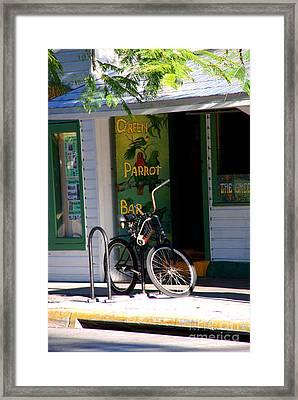 Green Parrot Bar Key West Framed Print by Susanne Van Hulst
