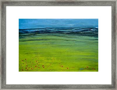 Green Pastures Framed Print by Jani Freimann