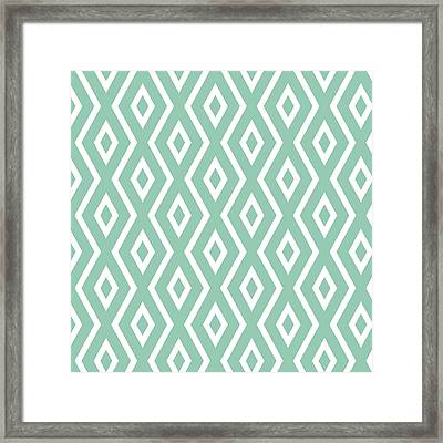 Green Pattern Framed Print