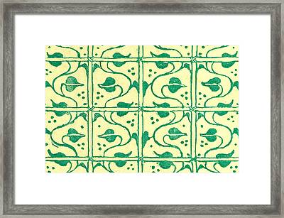 Green Pattern Framed Print by Walter Crane