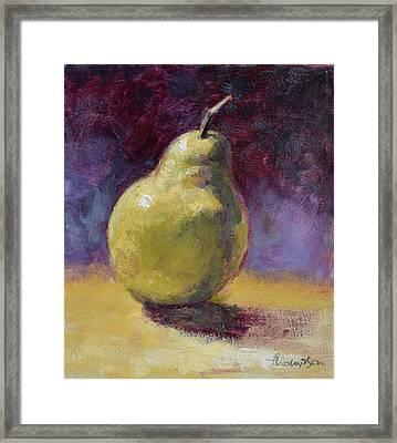 Green Pear Still Life Framed Print