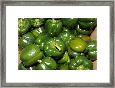 Green Peppers Framed Print