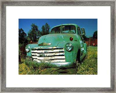 Green Pickup Truck 1959 Framed Print