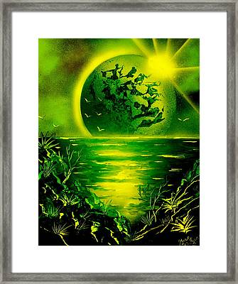 Green Planet 4669 E Framed Print