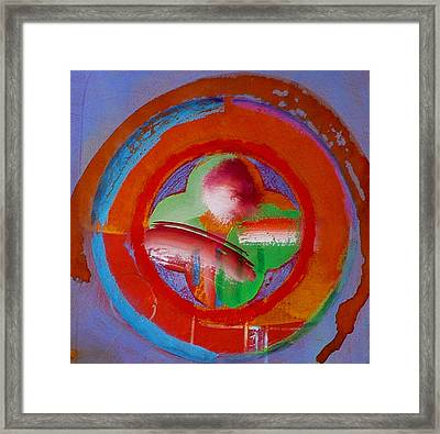 Framed Print featuring the painting Green Planet  by Charles Stuart