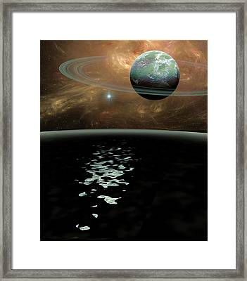Green Planet Framed Print