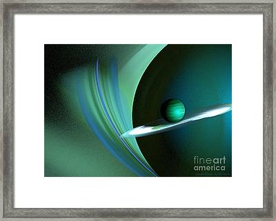 Green Planet Framed Print by Sandra Bauser Digital Art