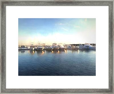 Green Pond Harbor Framed Print