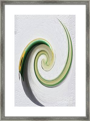 Green Popper Twirl Framed Print