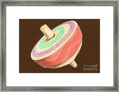 Green Red And Purple Top Framed Print