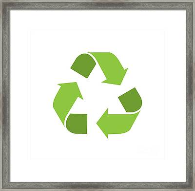 Green Reduce, Reuse, Recycle, Repurpose Mother Earth Framed Print