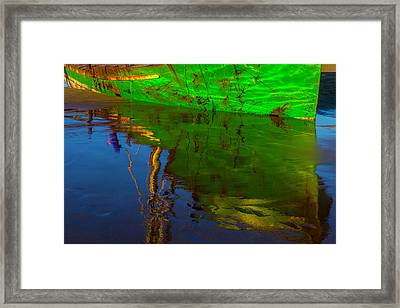 Green Reflection Framed Print by Garry Gay