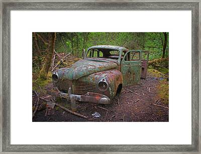Green Relic Framed Print by Cathy Mahnke