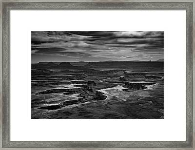 Green River In Black And White Framed Print by Rick Berk