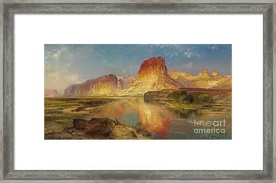 Green River Of Wyoming Framed Print by Thomas Moran