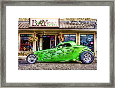 Green Roadster Framed Print