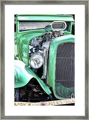 Green Rod Framed Print