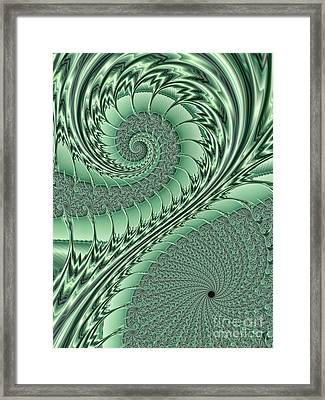 Green Scrolls Framed Print
