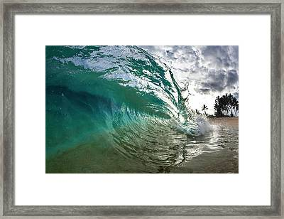 Green Shimmer Framed Print by Sean Davey