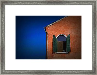 Green Shutters Framed Print by James Zuffoletto
