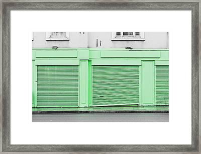 Green Shutters Framed Print