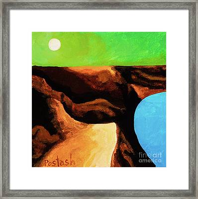 Framed Print featuring the painting Green Skies by Igor Postash
