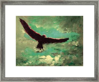 Green Sky Framed Print
