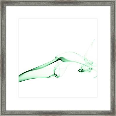 Green Smoke Framed Print by Scott Norris