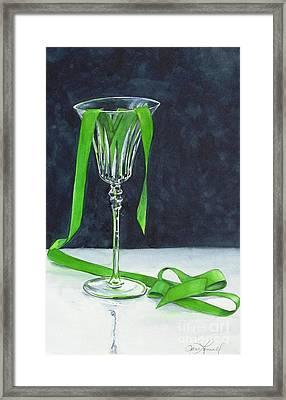 Green Spill Framed Print