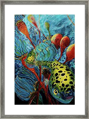 Green Spotted Puffer Framed Print