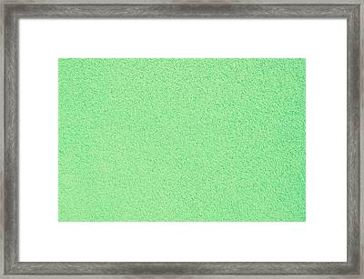 Green Stone Surface Framed Print