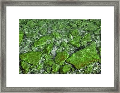 Framed Print featuring the photograph Green Stone Waters by LeeAnn McLaneGoetz McLaneGoetzStudioLLCcom