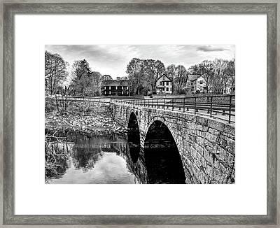 Green Street Bridge In Black And White Framed Print