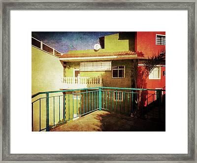 Framed Print featuring the photograph Green Street Corner, Alcala by Anne Kotan