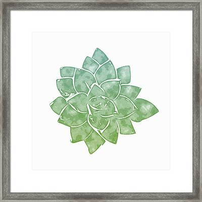 Green Succulent 1- Art By Linda Woods Framed Print by Linda Woods