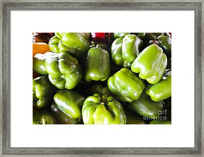 Green Sweet Peppers Framed Print by Thomas Marchessault