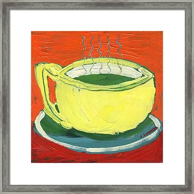 Green Tea Framed Print by Jennifer Lommers