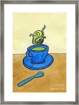 Green Tea Framed Print by Norma Appleton
