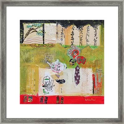 Green Tea Framed Print by Sylvia Paul